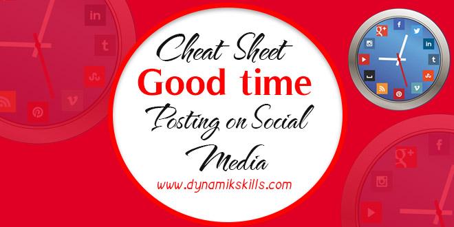 Cheat sheet for social Media